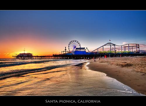 Santa Monica Pier, image by Pedro Szekely